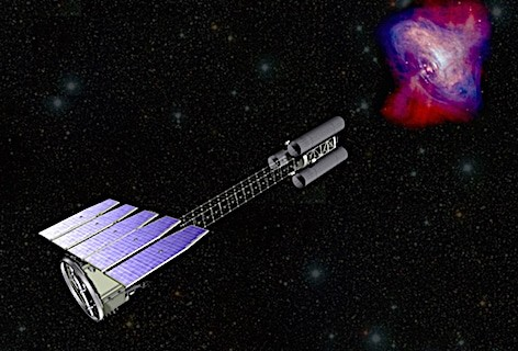 Media INAF - Rappresentazione artistica dell'Imaging X-ray Polarimetry Explorer (NASA)