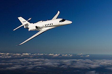 Il Cessna  Citation Latitude in volo (foto Cessna Aviation - Textron)