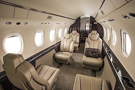 Gli interni del Cessna  Latitude (foto Cessna Aviation - Textron)