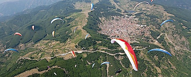 I parapendio in Macedonia