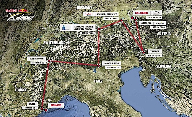 x-alps-2017-route-map